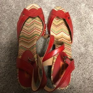 Miss Moxy red sandals. Size 11.
